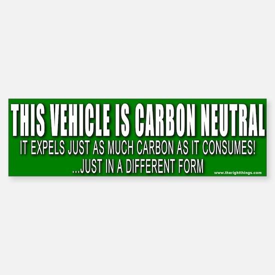 Carbon Neutral Vehicle Bumper Bumper Bumper Sticker