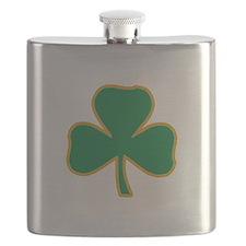 Irish Shamrock Flask