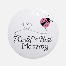 World's Best Mommy Ornament (Round)