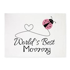 World's Best Mommy 5'x7'Area Rug
