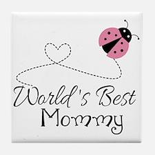 World's Best Mommy Tile Coaster