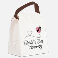 World's Best Mommy Canvas Lunch Bag