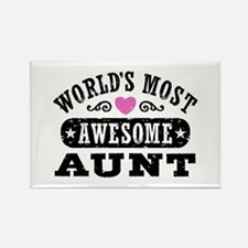 World's Most Awesome Aunt Rectangle Magnet