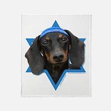 Hanukkah Star of David - Doxie Throw Blanket