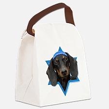Hanukkah Star of David - Doxie Canvas Lunch Bag