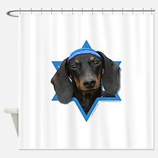 Hanukkah Star of David - Doxie Shower Curtain