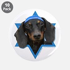 "Hanukkah Star of David - Doxie 3.5"" Button (10 pac"