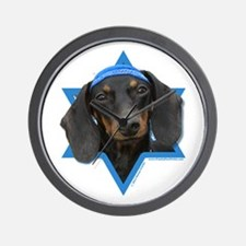 Hanukkah Star of David - Doxie Wall Clock