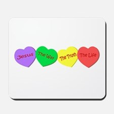 Jesus, the way, the truth, th Mousepad