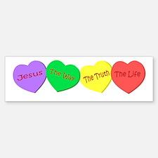 Jesus, the way, the truth, th Bumper Bumper Bumper Sticker