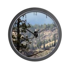 Bald Eagle Overlooking The Oregon Wall Clock