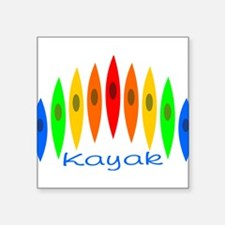 kayakrainbowforblack Sticker