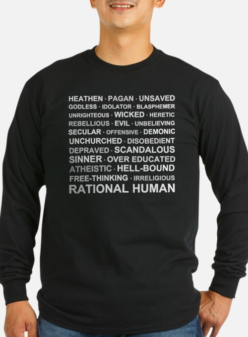 rationalhumancolorshirt2 Long Sleeve T-Shirt