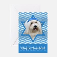 Hanukkah Star of David - Coton Greeting Cards (Pk