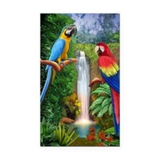 MACAW TROPICAL PARROTS Rectangle Car Magnet