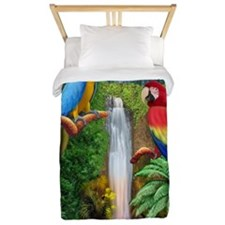 MACAW TROPICAL PARROTS Twin Duvet