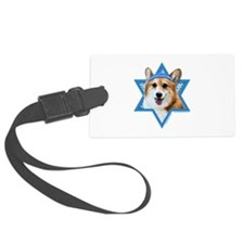 Hanukkah Star of David - Corgi Luggage Tag