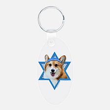 Hanukkah Star of David - Corgi Keychains