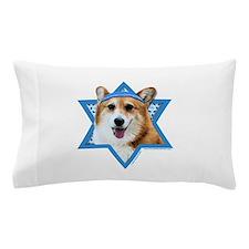 Hanukkah Star of David - Corgi Pillow Case