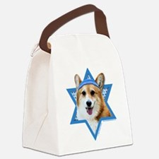 Hanukkah Star of David - Corgi Canvas Lunch Bag
