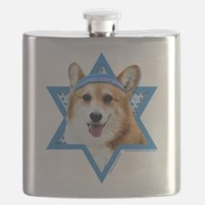 Hanukkah Star of David - Corgi Flask