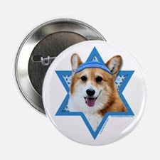 "Hanukkah Star of David - Corgi 2.25"" Button (10 pa"