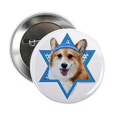 "Hanukkah Star of David - Corgi 2.25"" Button (100 p"