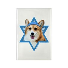 Hanukkah Star of David - Corgi Rectangle Magnet