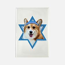 Hanukkah Star of David - Corgi Rectangle Magnet