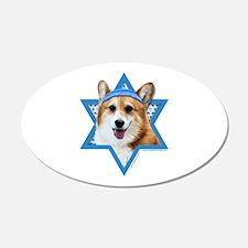 Hanukkah Star of David - Corgi Wall Decal
