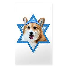 Hanukkah Star of David - Corgi Decal