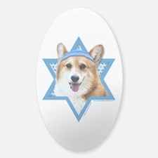 Hanukkah Star of David - Corgi Decal