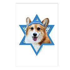 Hanukkah Star of David - Corgi Postcards (Package