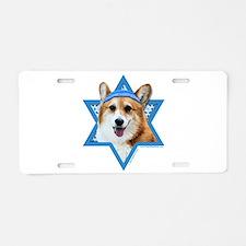 Hanukkah Star of David - Corgi Aluminum License Pl