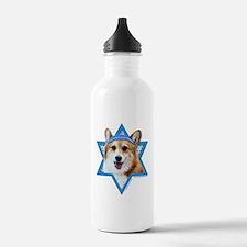 Hanukkah Star of David - Corgi Water Bottle
