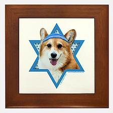 Hanukkah Star of David - Corgi Framed Tile