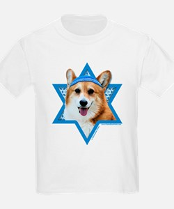 Hanukkah Star of David - Corgi T-Shirt