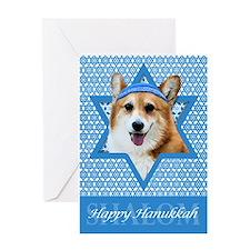Hanukkah Star of David - Corgi Greeting Card