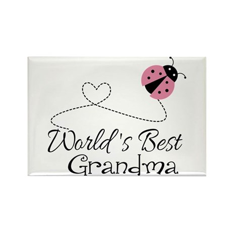 World's Best Grandma Rectangle Magnet (100 pack)