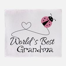 World's Best Grandma Throw Blanket