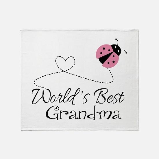 World's Best Grandma Throw Blanket