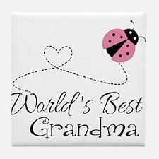 World's Best Grandma Tile Coaster
