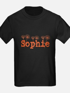 Orange Sophie Name T-Shirt