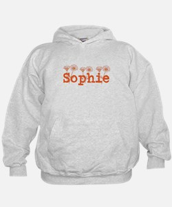 Orange Sophie Name Hoodie