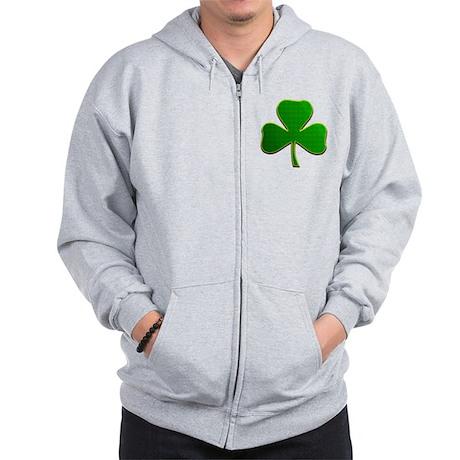 Lucky Irish Shamrock Zip Hoodie