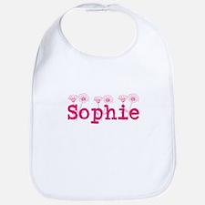 Pink Sophie name Bib