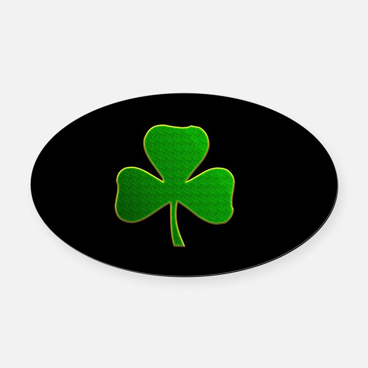 Lucky Irish Shamrock Oval Car Magnet