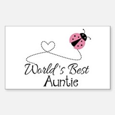 World's Best Auntie Ladybug Decal