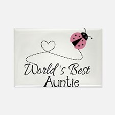 World's Best Auntie Ladybug Rectangle Magnet