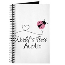 World's Best Auntie Ladybug Journal